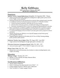 spanish teacher resume spanish resume cover letter gallery of cover letter for spanish teacher
