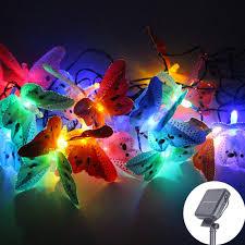 <b>6m 20 LED</b> Butterfly Fairy String Light <b>Christmas</b> Solar Power Fiber ...