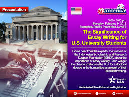 presentation the significance of essay writing for u s each will get the chance to study in the u s for a doctoral degree in the humanities as a result of their excellent writing