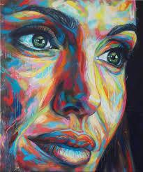Angelina Jolie Spray Paint on Canvas 100cm x 120cm 2013 | art of David Walker - David-Walker-Angerlina-Jolie