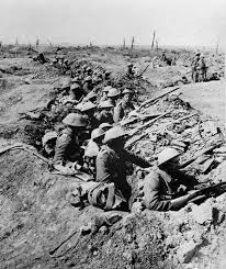 the enduring impact of world war i   the new york times british infantrymen in a trench before advancing during the battle of the somme in july  credit associated press