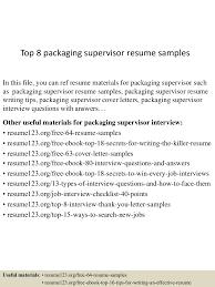 toppackagingsupervisorresumesamples lva app thumbnail jpg cb
