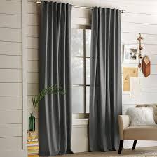 Hidden Tab Curtains West Elm Cotton Canvas Steel Grey Hidden Tab Top Curtain Panel 48