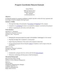 program coordinator resume resume templates program coordinator resume