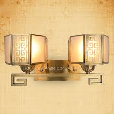 funky bathroom lights:   light bronze funky style mission traditional bathroom wall sconces lsih