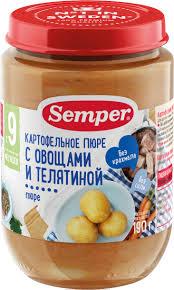 semper пюре рагу картофельно овощное цыпленком с 12 месяцев шт по 190 г