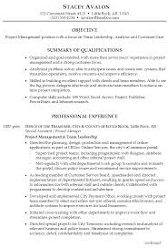 resume examples project management resume templates cover letter resume samples for project managers