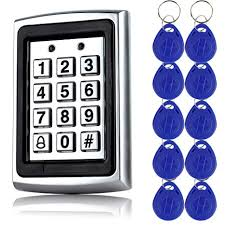10pcs keyfobs +125Khz EM-ID <b>Metal</b> Case <b>RFID Access Control</b> ...