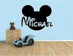 Personalized Name Wall Decal Mickey Mouse Head ... - Amazon.com