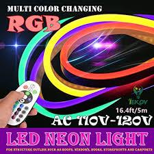 Buy <b>LED NEON LIGHT</b>, IEKOVTM AC 110-120V Flexible RGB <b>LED</b> ...