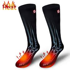 Autocastle Electric Heated Socks <b>Rechargeable Battery Heat</b> Sox Kit ...