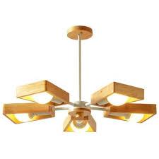 <b>Modern Wooden</b> Branch Chandelier Lighting Adjustable Sputnik ...