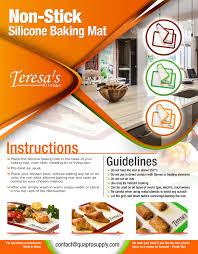 non stick silicone baking mat asha infotech category flyer brochure design
