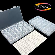Aozer Embroidery 28 Grids Diamond Painting Box ... - Amazon.com
