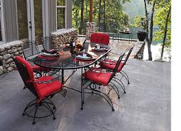 image of wrought iron outdoor furniture dining set black wrought iron patio