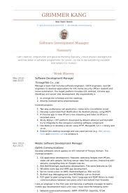 software development manager resume samples   visualcv resume    software development manager resume samples