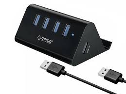 <b>ORICO High Speed 4</b> Port USB 3.0 Hub with Phone Stand Portable ...