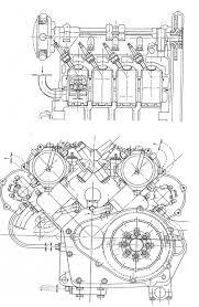 moto guzzi cilindri engine blueprints sketches moto guzzi 8 cilindri engine 1950