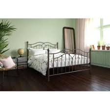 Aaron <b>Light</b> Grey <b>Linen Bed Frame</b> - Queen Size - Tufted - Nailhead ...