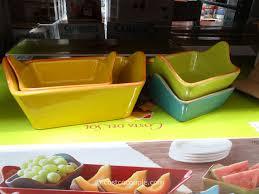 photo costco serving dishes images costa del sol 7 piece serving set costco 3