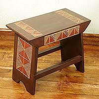 wood ottoman stool african heritage handcrafted african sese wood stool african themed furniture