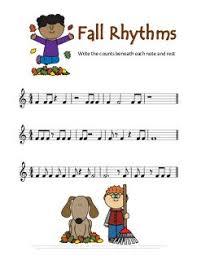 Thanksgiving <b>music</b> worksheet for reviewing rhythm. Free <b>printing</b> ...
