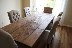 long wood dining table: dining room kitchen interior agreeable small rustic beautiful wooden rectangle table white comfortable chairs large mirror