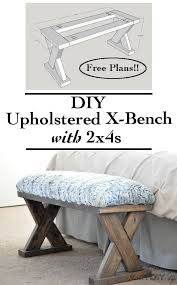 x contemporary bedroom benches:  this year with glamulet they are compatible with pandora bracelets such an easy and quick build and so cheap too this diy upholstered x bench using