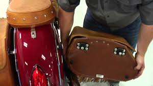 How to Remove and Replace Indian Chief <b>Saddlebags</b> - Indian ...