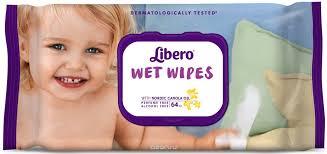 <b>Libero Влажные салфетки</b> Wet Wipes сменный блок 64 шт ...