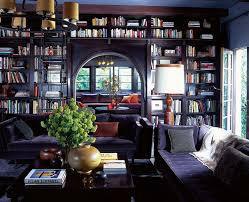 contemporary home library furniture with neat arrangement custom home library design awesome home library design
