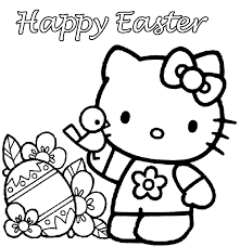 kitty coloring pages easter com
