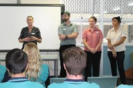 tannum sands state high school issue 7 14 2017 a huge thank you to the woolworths boyne island store management team who came to talk to our year 12 s about exciting career options in retail