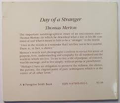 day of a stranger thomas merton com books