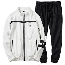 <b>men's spring</b> autumn casual loose zipper <b>sports suit</b> at Banggood