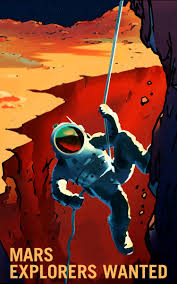 retro posters show nasa s vision for our future on mars the space agency s beautiful art offers a r tic view of human space travel but the