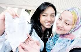 NURIZZATI Zainal Nazeri (kiri) bangga menunjukkan keputusan 8A kepada ibunya, Suliza Salam selepas pengumuman keputusan peperiksaan Penilaian Menengah ... - pe_02_big