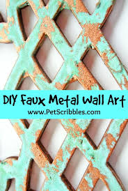 iron wall decor u love: want to make your own metal wall art its easier than you might think to create this look it all starts with this tutorial by pet scribbles