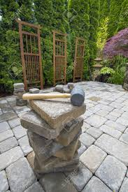 garden furniture patio uamp: garden design with backyard patio stock photos pictures royalty free backyard patio with landscaping