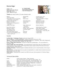 qualifications resume sample child acting resume template child audition resume format