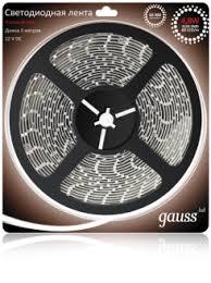 Gauss <b>Лента LED 2835/60</b>-<b>SMD 4.8W</b> 12V DC красный (блистер ...