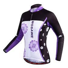 <b>WOSAWE Women Cycling Jersey</b> Full Sleeve Breathable MTB ...