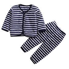 Toodii Newborn <b>Baby</b> Girl <b>Boy</b> Fleece Thick Warm Tops Pants <b>Set</b> ...