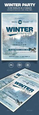 winter party flyer formats winter parties photoshop and holiday winter party flyer 2 formats photoshop psd invitaion snowfall 10141