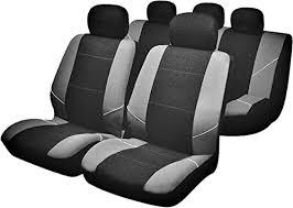 Sakura 'Merton' Black/Grey <b>Seat</b> And Headrest <b>Covers</b> BY0802 - Full ...