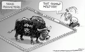 Risultati immagini per nuclear iran peace missile cartoon