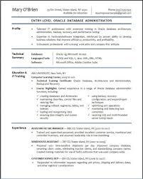 sample resume for entry level database developer resume sample resume for entry level database developer teacher resume sample our collection of resume examples