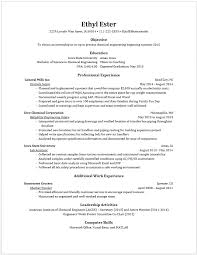 example resumes engineering resume examples for students