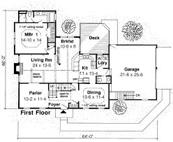 House Plan at FamilyHomePlans comColonial Saltbox House Plan Level One