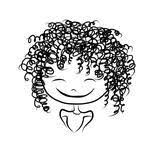 Image result for cartoon illustration of a smiling woman